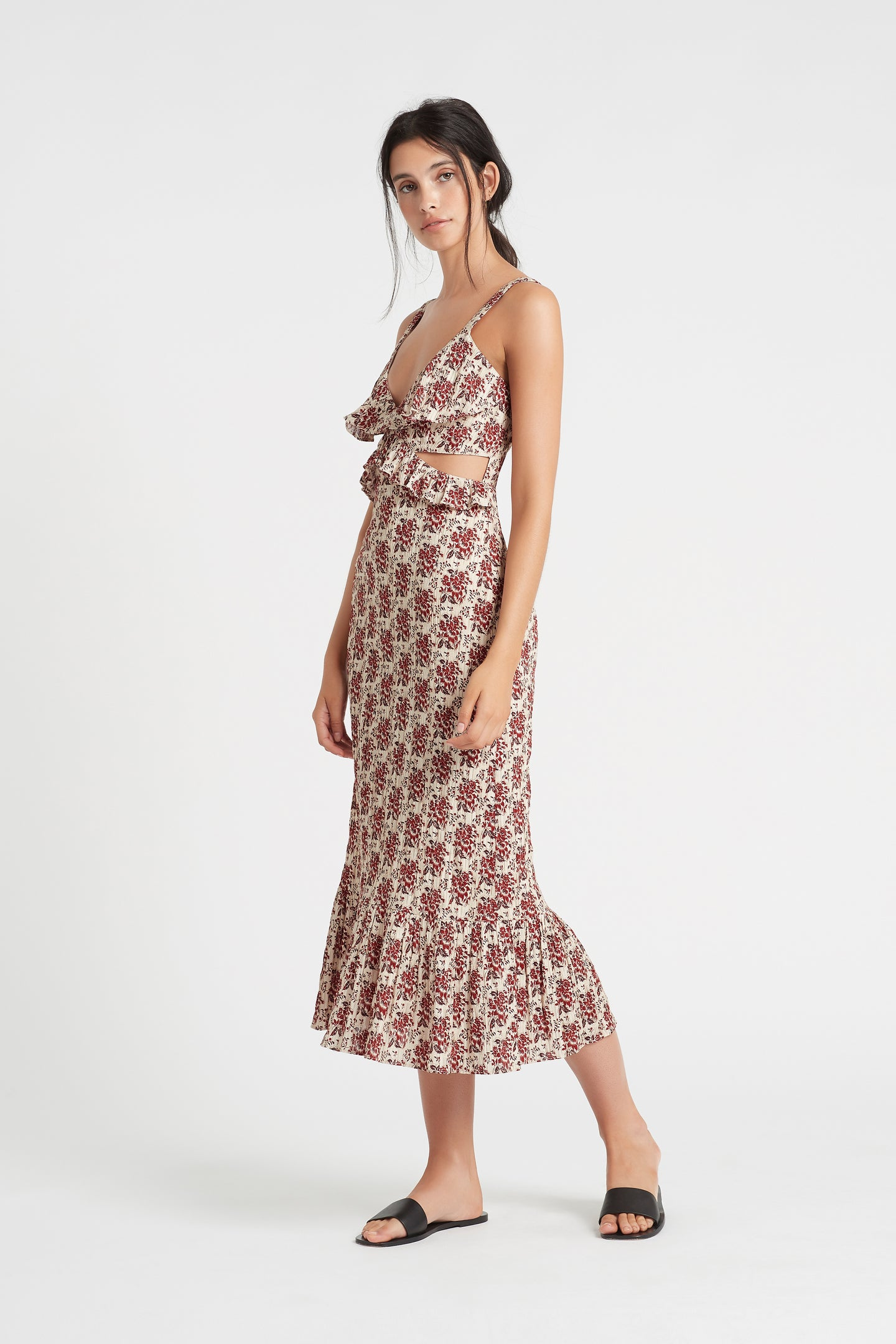 SIR the label FLORÉ CUT OUT DRESS FLORE PRINT