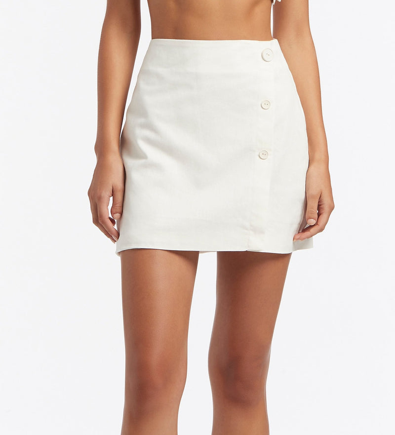 MARTINE WRAP MINI SKIRT