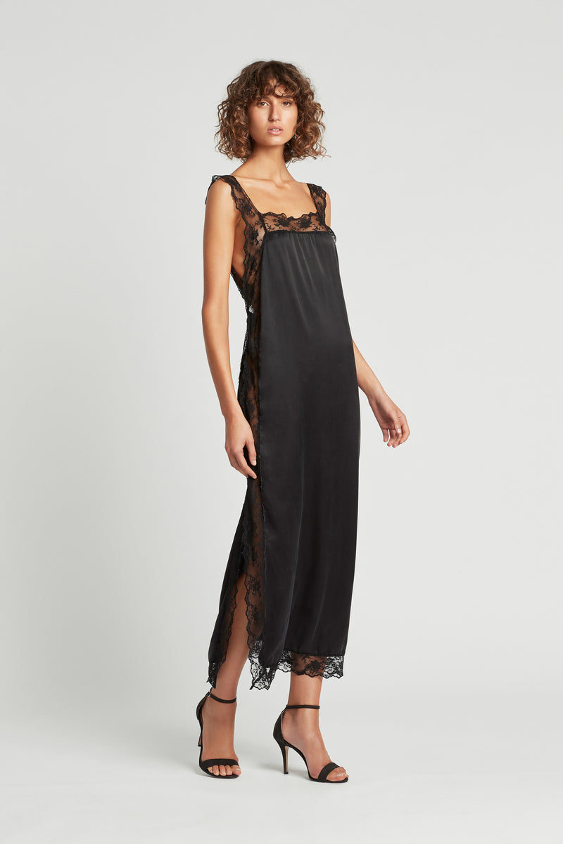 SIR the label ARIES LOW BACK DRESS BLACK