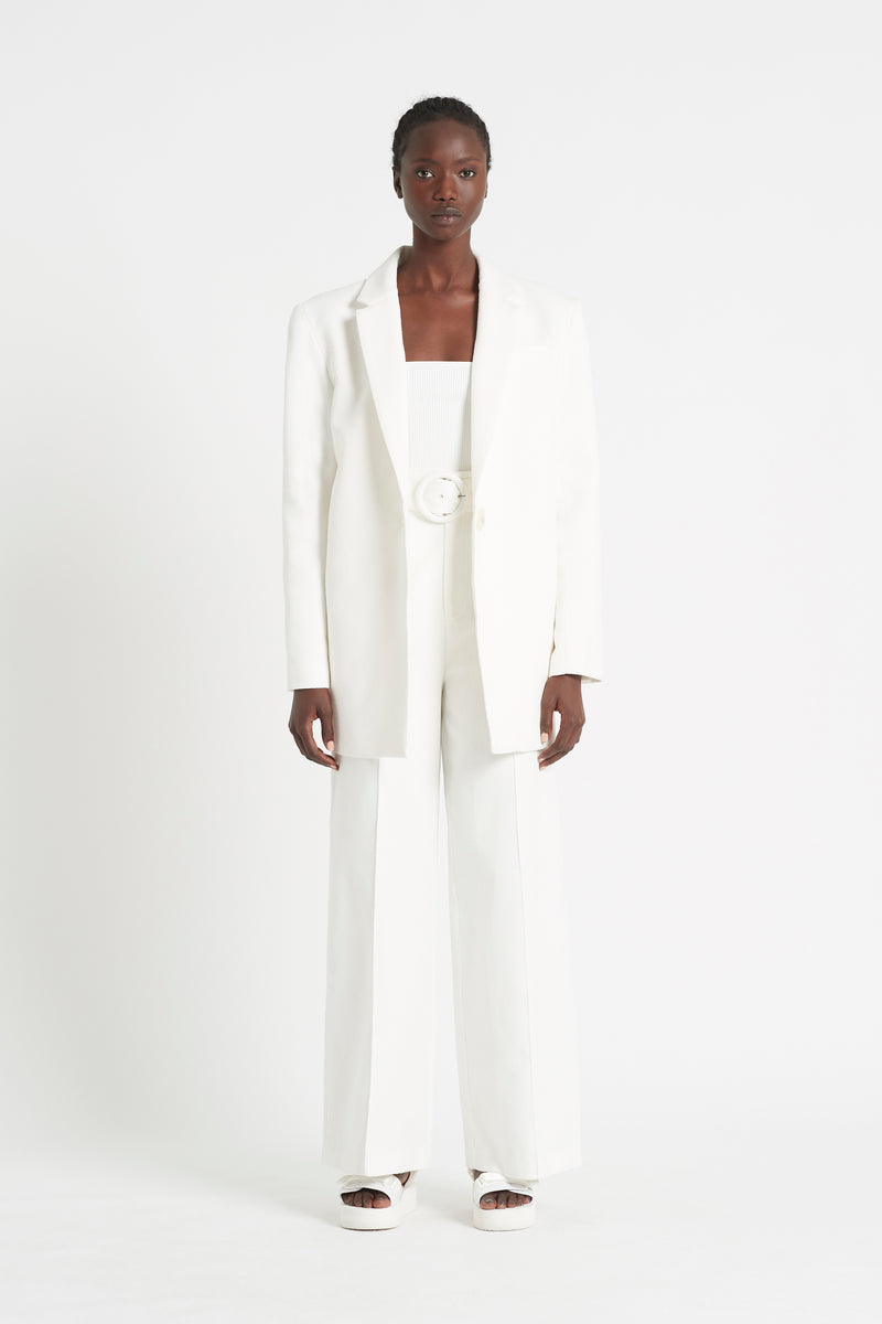 SIR the label JACQUE PANT IVORY