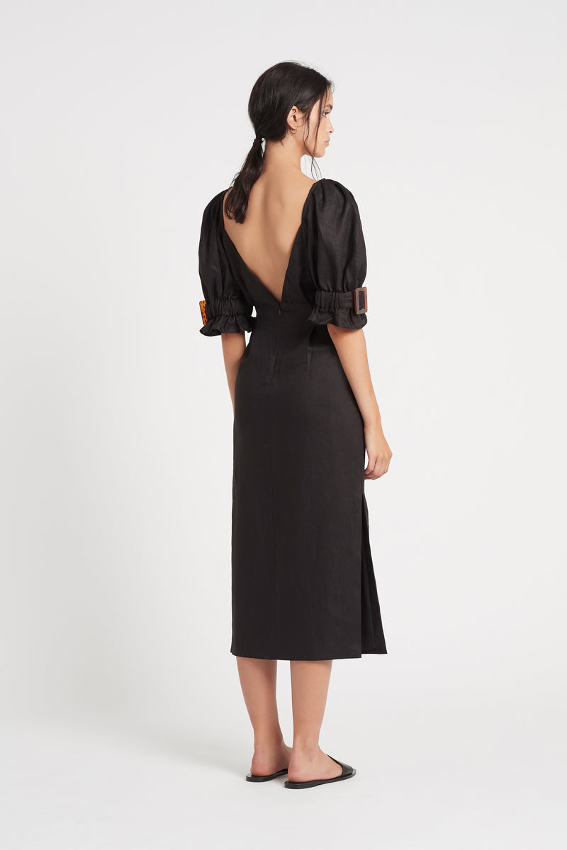 SIR the label PASCALE MIDI DRESS BLACK
