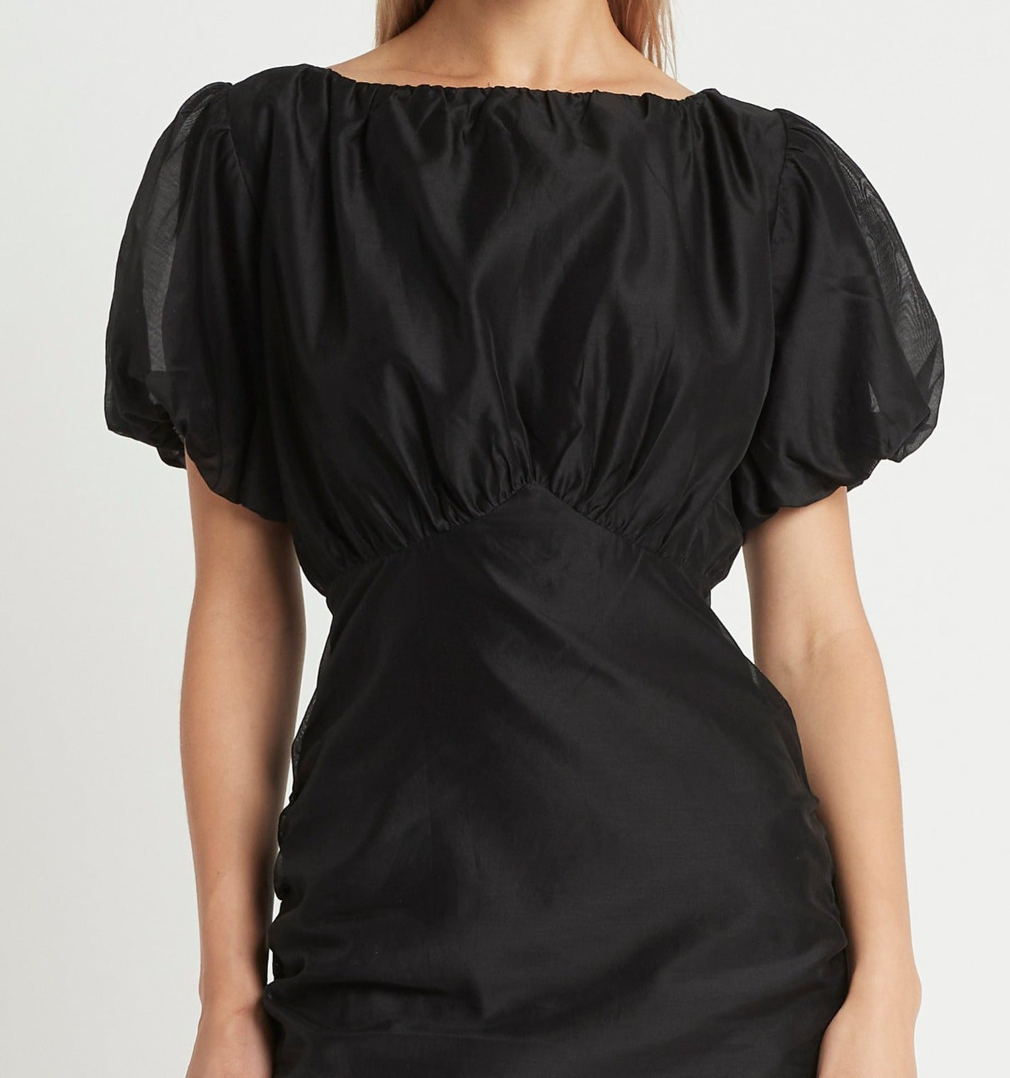 SIR the label AMERIE PUFF SLEEVE DRESS BLACK