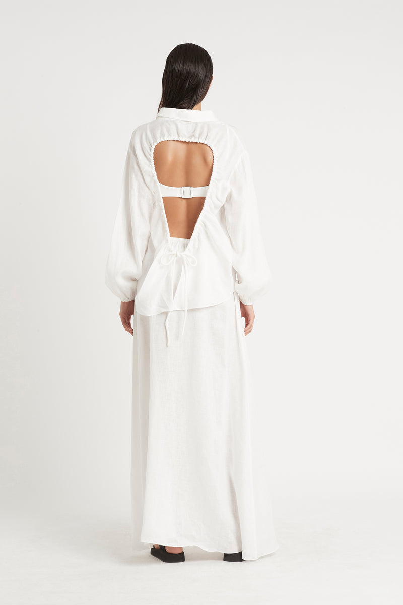 BLANCHE OPEN BACK SHIRT