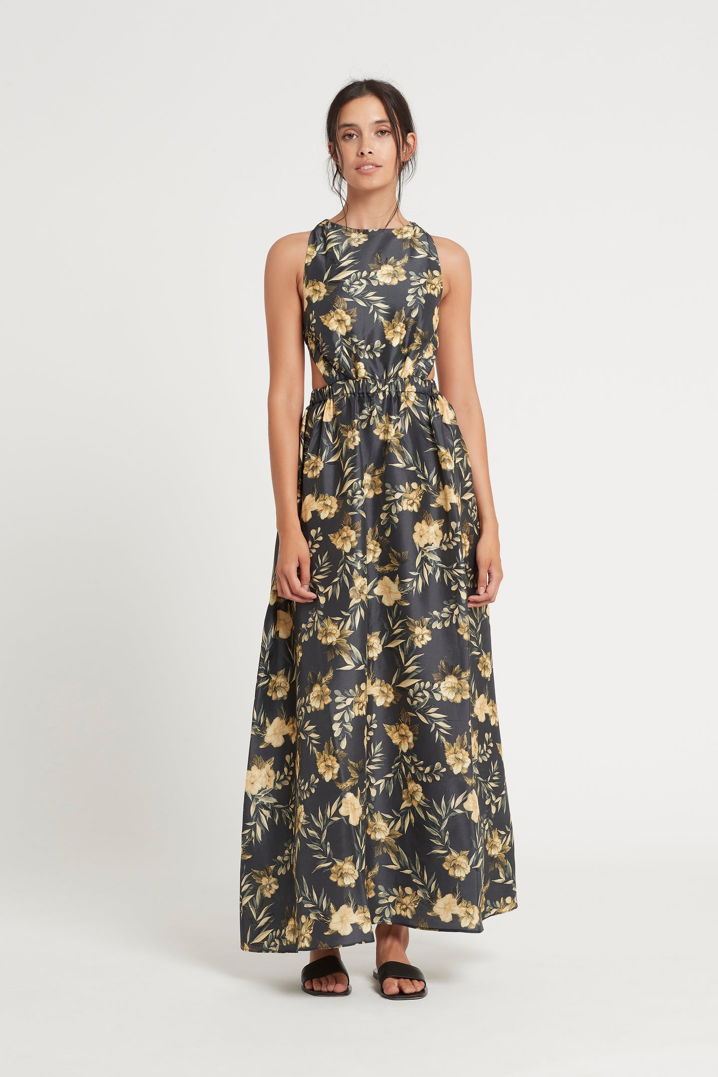 SIR the label CARMEN MAXI DRESS CHARCOAL LITA PRINT