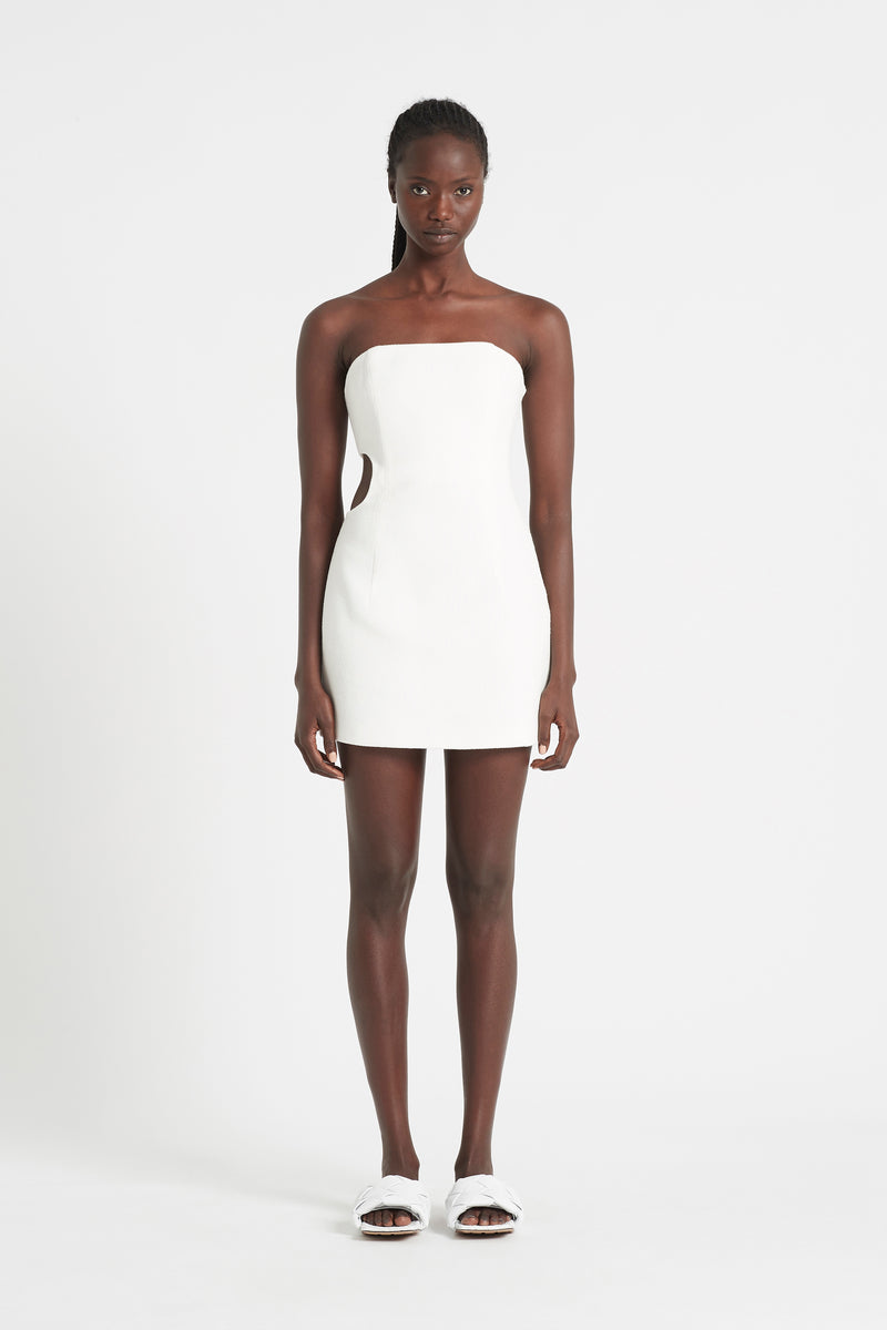SIR the label JACQUE STRAPLESS MINI DRESS IVORY