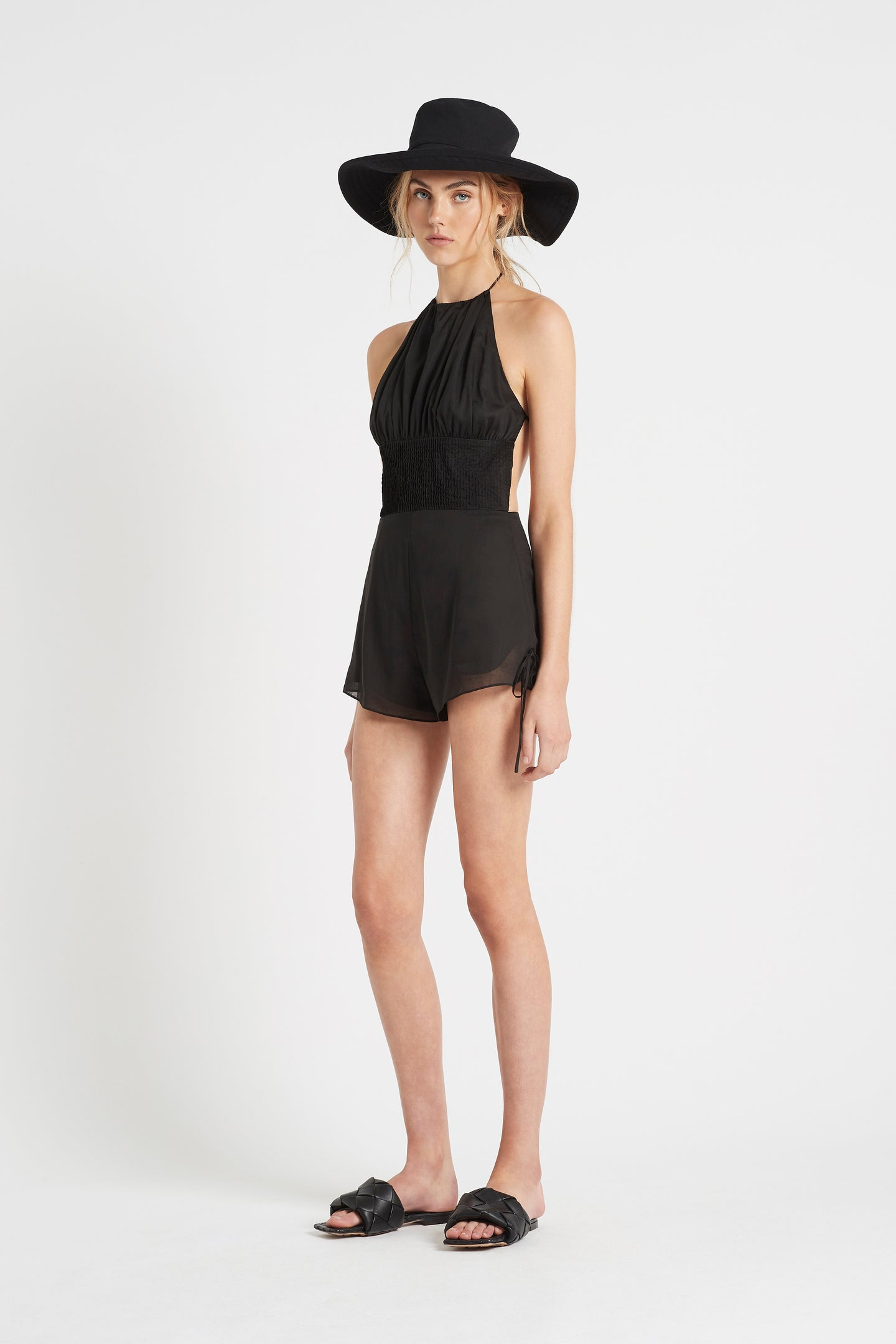 SIR the label ALINA HALTER JUMPSUIT BLACK