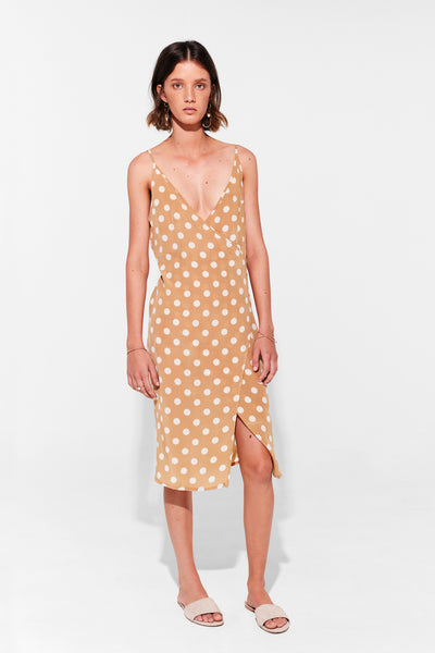 EDDIE WRAP MIDI DRESS