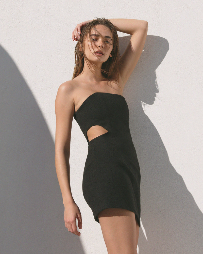JACQUE STRAPLESS MINI DRESS