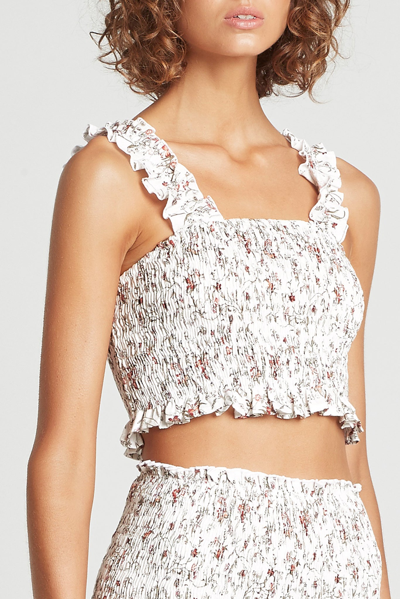 SIR the label HAISLEY RUCHED CROP HAISLEY FLORAL PRINT