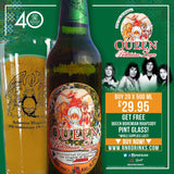 Buy case of 20 x 500 ml Queen Lager &  Get a Free Queen Bohemian Pint Glass!