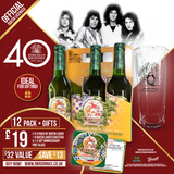 Free Pint Glass & coasters with Queen Bohemian Lager 330 ml. x 12 pack  Only £19!
