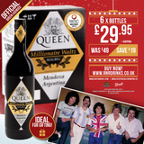 Queen Millionaire Waltz Malbec Wine - Christmas Sale £29.95 for Case of 6 x 750ml 14.5% ABV