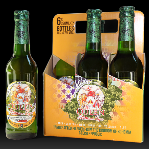 Queen Bohemian Lager 330 ml. x 6 pack