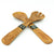 Serving Spoons Olive Wood & Bone - Sunburst