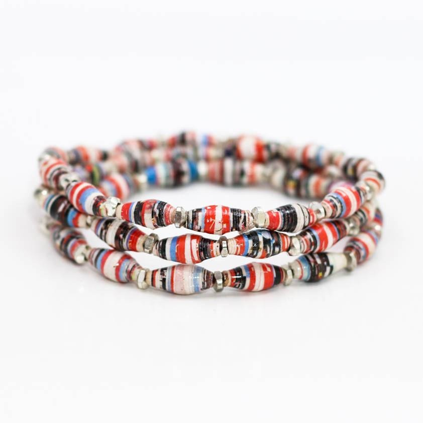 Bracelet -  Racing Stripes Wrap Multi