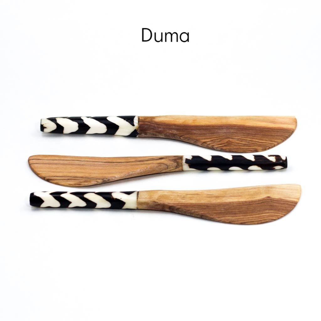 Spreader -  Olive Wood & Bone Thumbnail