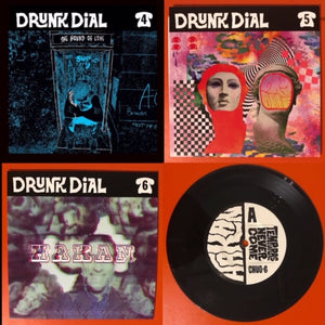 Drunk Dial Bundle (#4-6) – black-vinyl editions  - New 7""