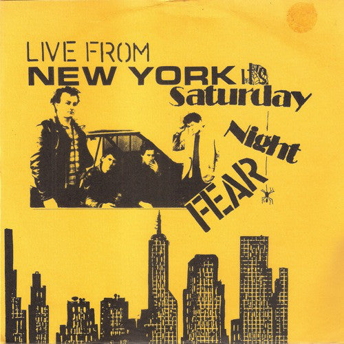 Fear - Live From New York It's Saturday Night - Used 7""
