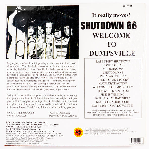 Shutdown 66 – Welcome to Dumpsville – New LP