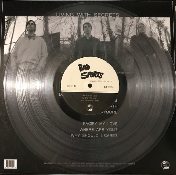"Bad Sports - Living With Secrets - 12"" - New LP"