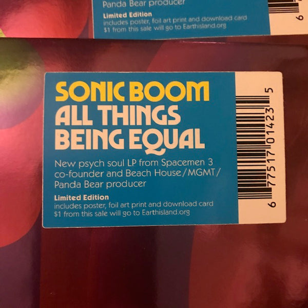 Sonic Boom – All Things Being Equal – New LP