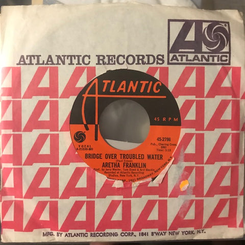 Franklin, Aretha - Bridge Over Troubled Water / Brand New Me - Used 7""