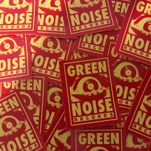 Green Noise Small Sticker (Red/yellow)