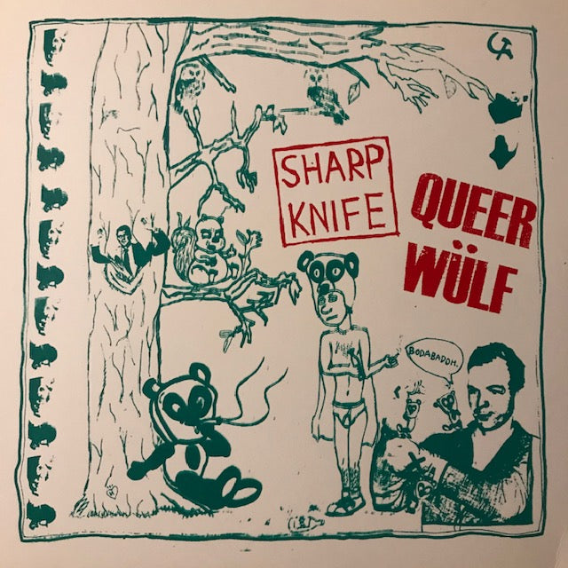 Sharp Knife / Queer Wülf – split - Used LP