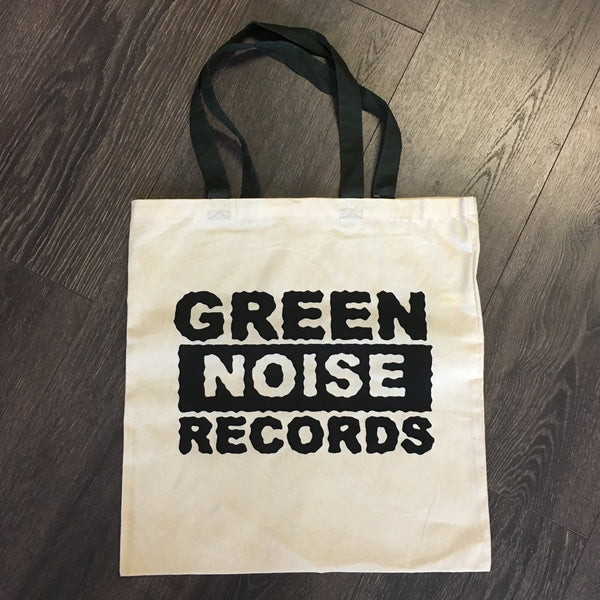 Green Noise Records Tote Bag (Tan/Green)