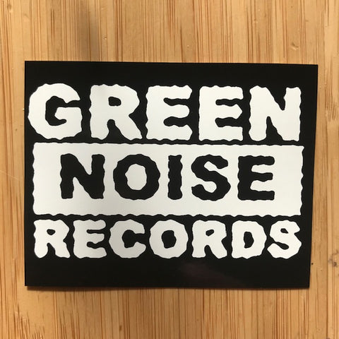 Green Noise Small Sticker (black/white)