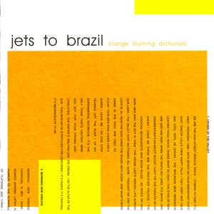 Jets To Brazil - Orange Rhyming Dictionary LP