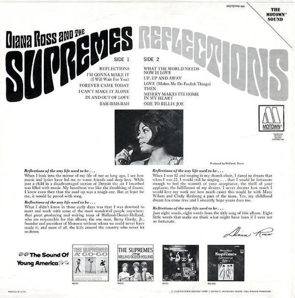Diana Ross and the Supremes – Reflections – Used LP