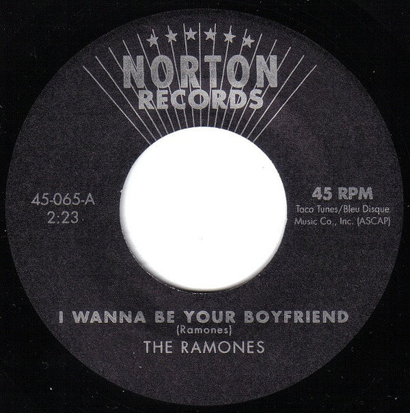 "Ramones - ""I Wanna Be Your Boyfriend"" / ""Judy is a Punk"" (1975 Demos) - Used 7"""