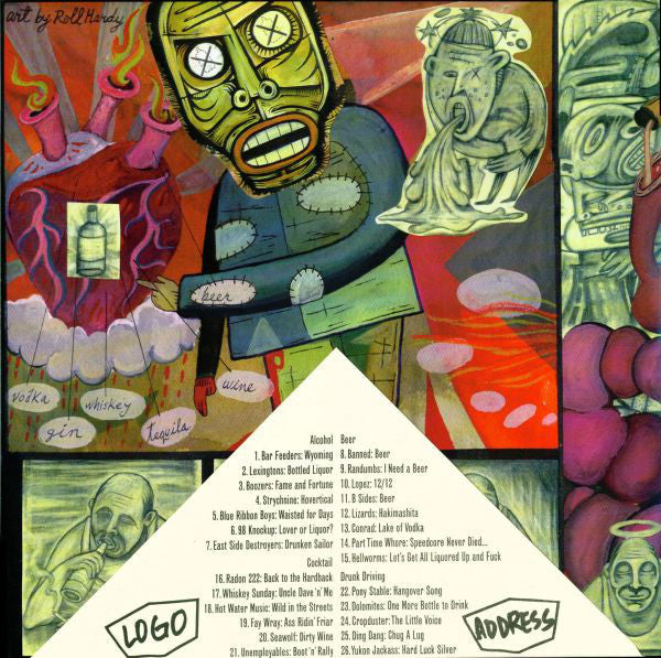 "Various ‎Artists – Twelve Ounces Of Courage (Songs About Drinking Episode Three) [2x10"" GREEN VINYL]- Used 10"""