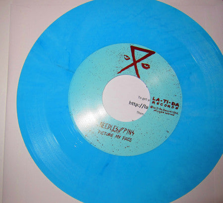 Needles//Pins ‎– Getting On Home [BLUE VINYL] - Used 7""