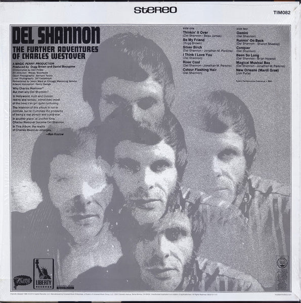Shannon, Del - The Further Adventures of Charles Westover - New LP
