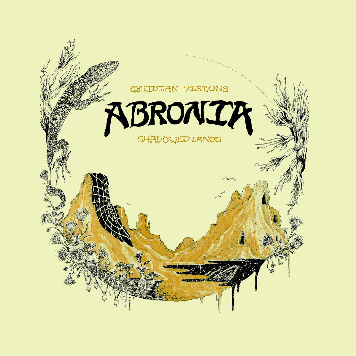 Abronia - Obsidian Visions / Shadowed Lands - LP