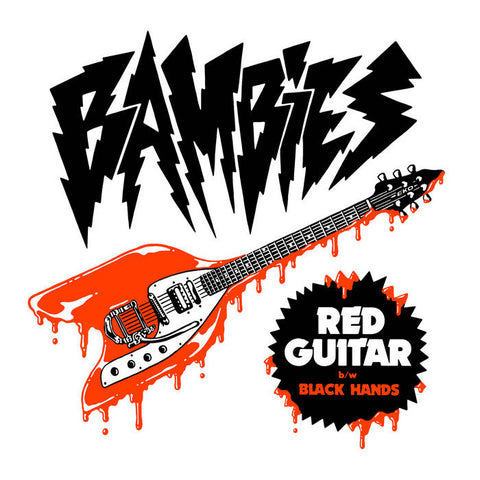 "Bambies – ""Red Guitar"" [RED VINYL] – New 7"""