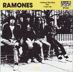 "Ramones - ""Carbona Not Glue"" / ""I Can't Be"" [YELLOW VINYL] - Used 7"""