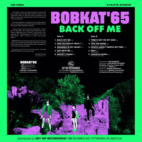 Bobkat'65 – Back Off Me – New LP