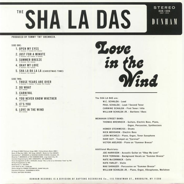 Sha La Das, The - Love in the Wind - New LP