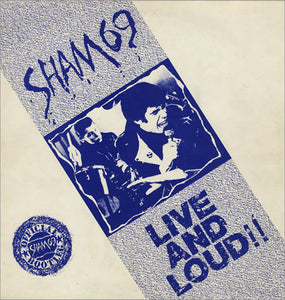 Sham 69 - Live and Loud! - Used LP