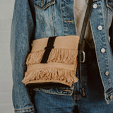 Camel Fringe Shoulder Bag