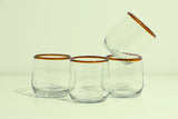Amber Stemless Glass Set