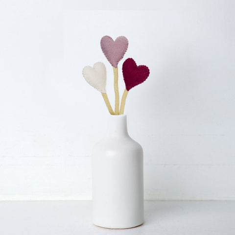 Heart Stems Sticks Handmade in Nepal women artisans | Global Goods Partners handcrafted wool adjustable stem home decor valentine's day gifts idea for women empower giving back
