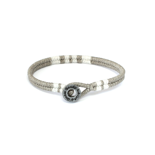 bracelet grey buy handmade fair trade beautiful lifestyle accessories change women´s live give back Global Goods Partners