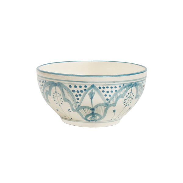 Blue Ceramics Small Mountain Bowl Handmade in Tunisia | Global Goods Partners fair trade hand-painted Le Souk Ceramique eco-friendly home kitchen dining products gifts for Mom mother ideas women artisans unique pattern
