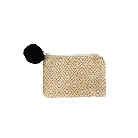Gold Trim Falseria & Khaki Coin Purse