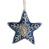 Star Embroidered Holiday Ornament handmade in Peru Global Goods Partners Holiday Gift Give Back Decoration Tree Christmas X-mas