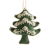 Tree Embroidered Holiday Ornament handmade in Peru | Global Goods Partners Gift Give Back Decoration Tree Christmas X-mas winter